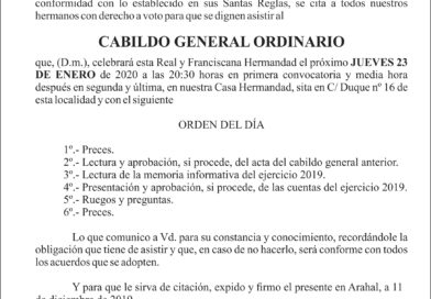 CABILDO GENERAL ORDINARIO